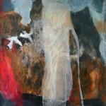 """""""A la recherche de la lumière"""", 26.5 x 26 cm - monotype -1990"""