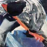 """""""Bluesman"""", 50 x 45 cm - gouache sur papier - 1989"""