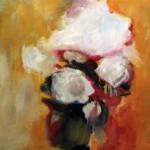 """""""Le bouquet de Lucette"""", 61 x 54 cm - gouache sur papier - 1989"""
