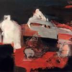 """""""A la pointe du Van"""", 65 x 50 cm - gouache sur papier - 1991"""