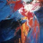 """""""Archer"""", 65 x 50 cm - gouache sur papier - 1992"""