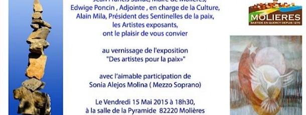 Halte n°6 des artistes pour la Paix à Molières